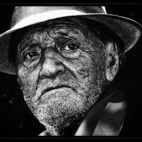 by Veronica Gafton - People Portraits of Men ( old, sad, people, man )