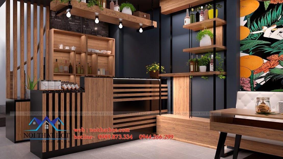 thiết kế quán cafe 40m2 6