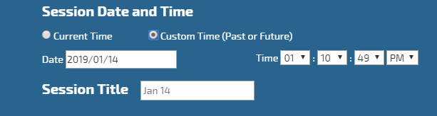 Custom Attendance Session Date Time