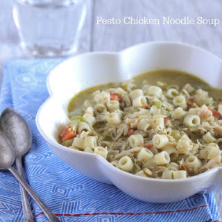 Pesto Chicken Noodle Soup