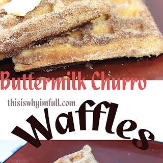 Buttermilk Churro Waffles.