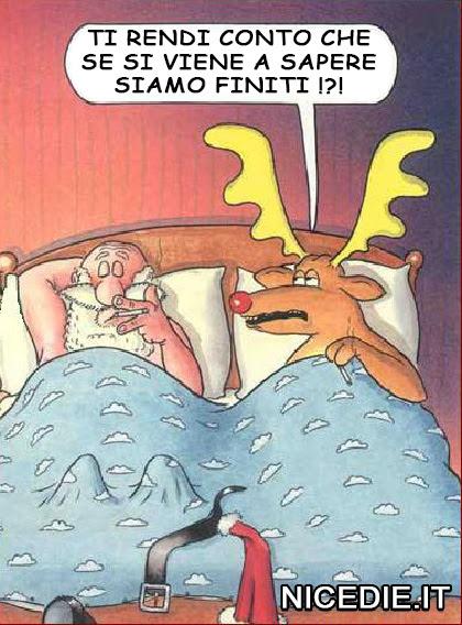 A letto con una delle renne che dice: ti rendi conto che se si viene a sapere siamo finiti !?!