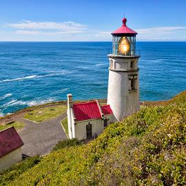 by Ken Smith - Buildings & Architecture Public & Historical ( lighthouse, heceta head lighthouse, oregon coast, oregon )