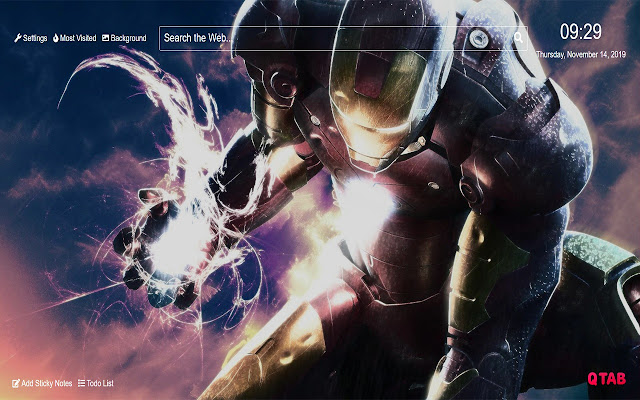 Iron Man Wallpaper for New Tab
