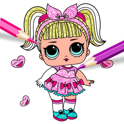Cute Dolls Lol Glitter Coloring Book Google Play Də Tətbiqlər
