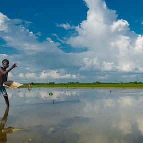 by Babu Raj - Landscapes Cloud Formations