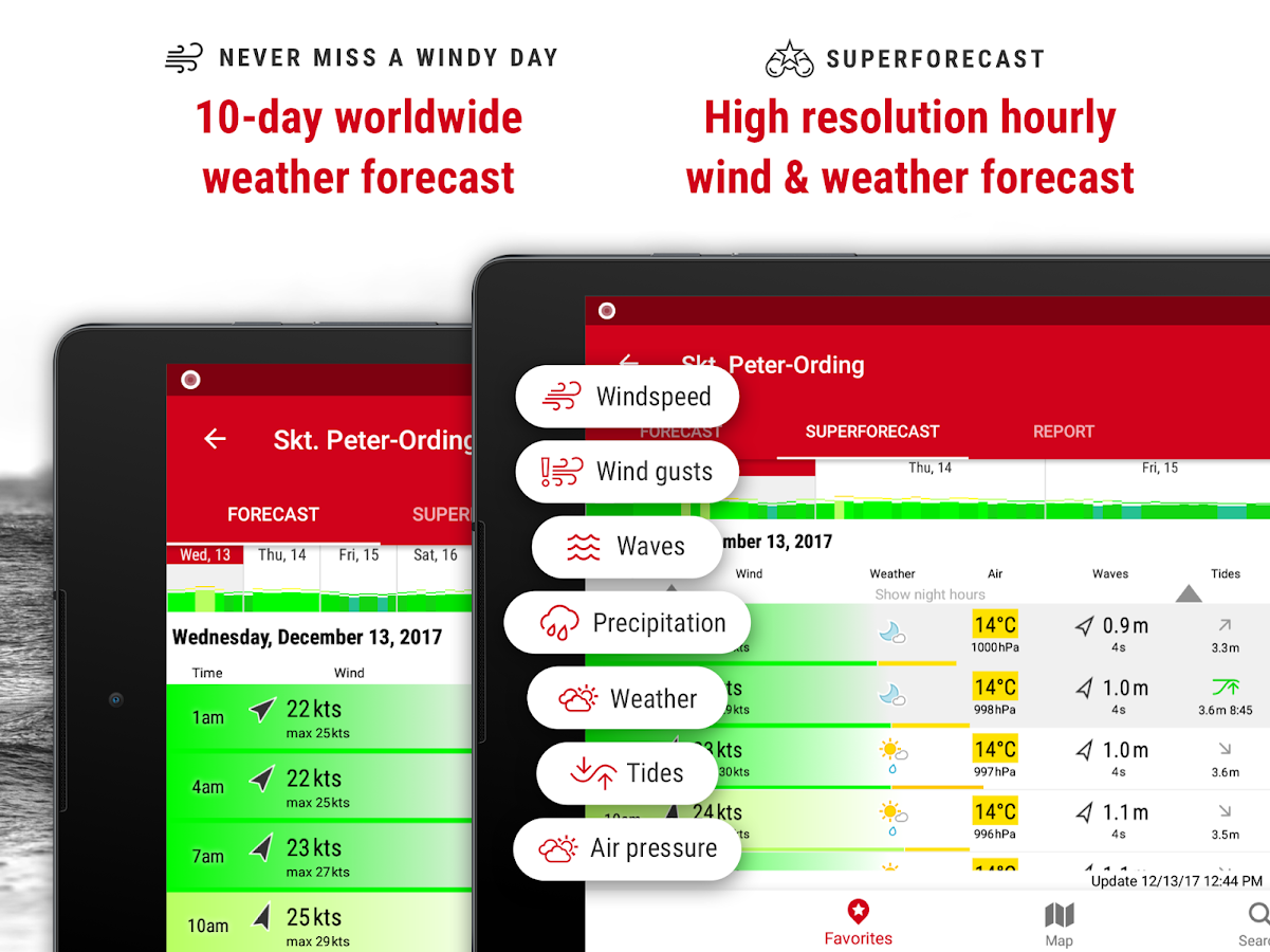 Windfinder Pro - weather & wind forecast- screenshot