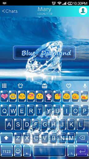 Blue Diamond Emoji Keyboard