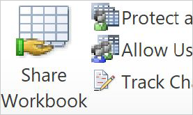 Options in 2010  version (protect, allow, track)