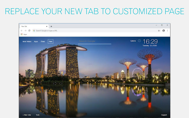 Singapore Backgrounds New Tab - freeaddon.com