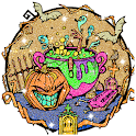 Halloween Glitter Color by Number - Sparkly Paint icon