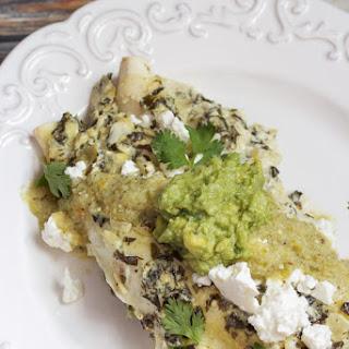 Chicken Spinach and Artichoke Enchiladas.