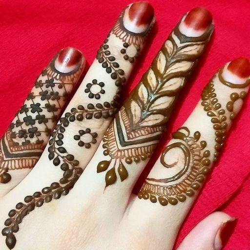 Image result for finger mehndi designs
