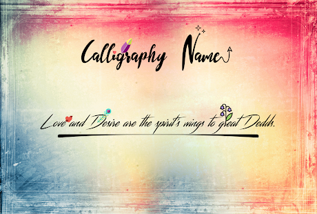 Calligraphy name apps on google play