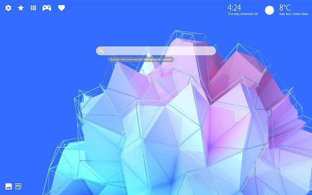 Abstract Art HD Wallpaper Chrome Theme