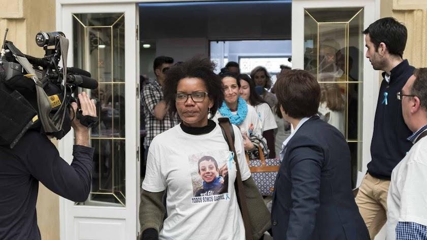 Ana Julia Quezada entrando en Diputación el pasado viernes