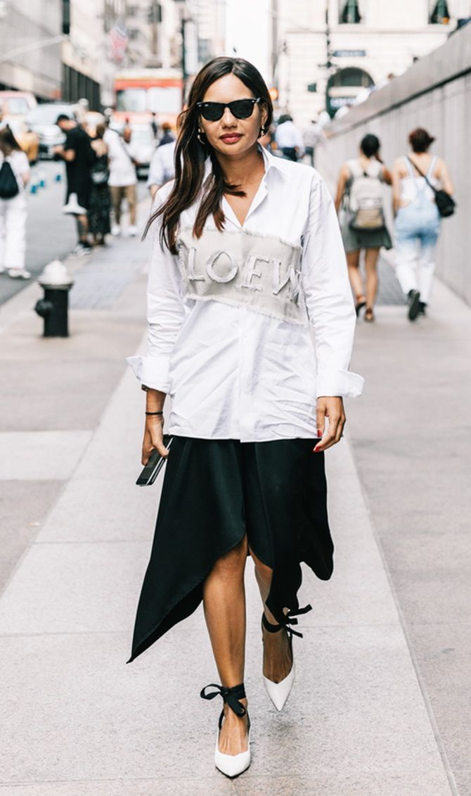 trendy looks, black and white combinations 12
