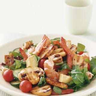 Prawn and Mixed Veggie Salad.