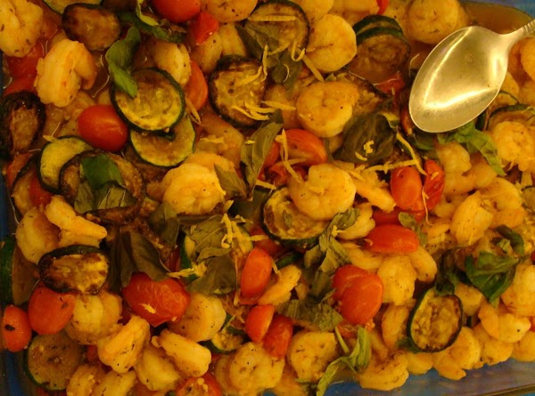 Shrimp And Zucchini And Tomatoes Recipe