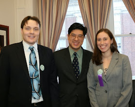 Photo: Michael Sugar (Lobel, Neue & Till) and Kate Swartz (Torres, Scammon & Day) had a productive meeting with Representative Tackey Chan.