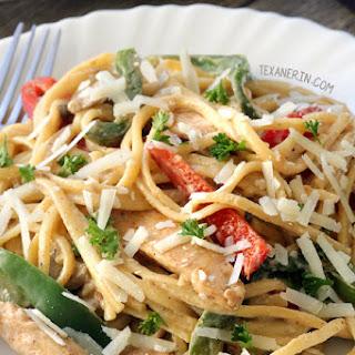 Healthier Cajun Chicken Pasta (gluten-free, whole grain options)