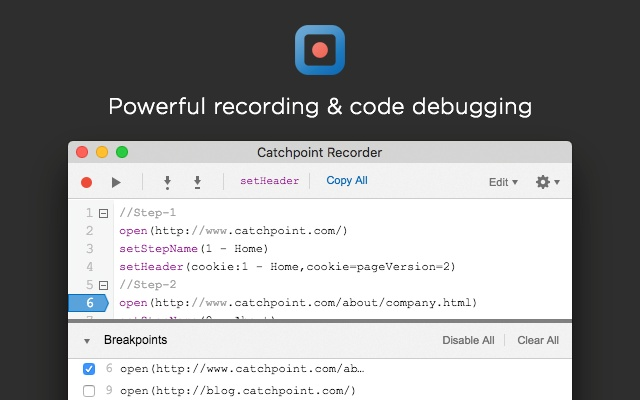 Catchpoint Script Recorder