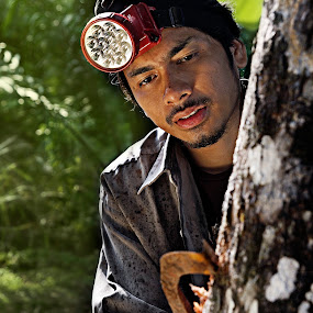 Rubber tappers by Azmil Omar - People Portraits of Men ( work, people, man )