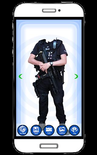 Men Police Dress Photo Suit