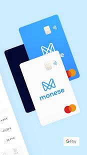 Monese - Běžný účet - náhled
