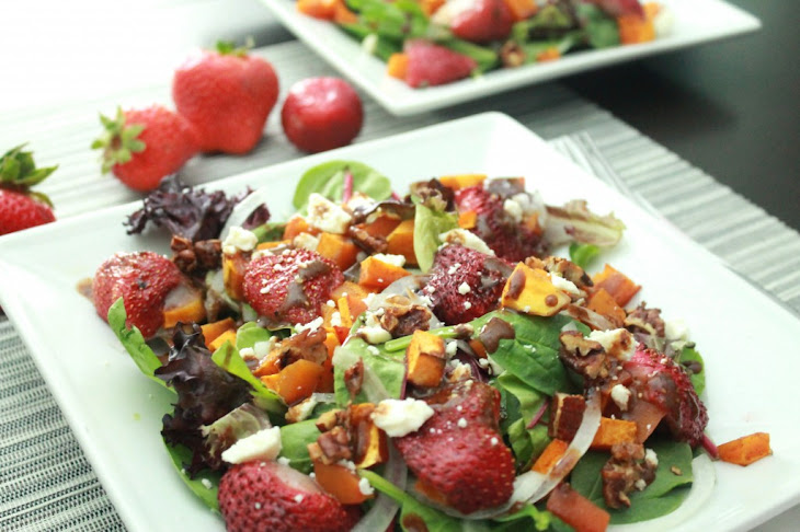 Roasted Butternut Squash and Strawberry Salad Recipe