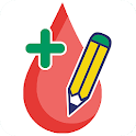 Glucose tracker & Diabetic diary. Your blood sugar icon