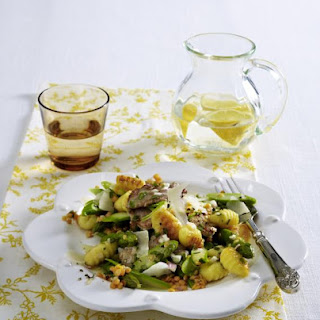 Warm Pork, Asparagus and Gnocchi Salad