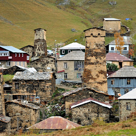 Ushguli by Tomasz Budziak - Buildings & Architecture Homes ( historic district, cityscape )