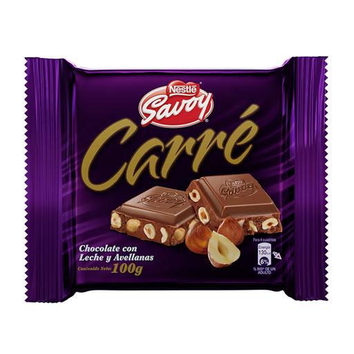 chocolate savoy especial carre leche y avellanas 100gr