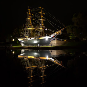 Amity  by Steve Brooks - Transportation Boats ( reflection, albany, boat, amity, historic, western australia )