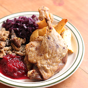 Confit Duck with All the Fixins