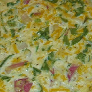 Eggless Tofu Spinach Quiche.