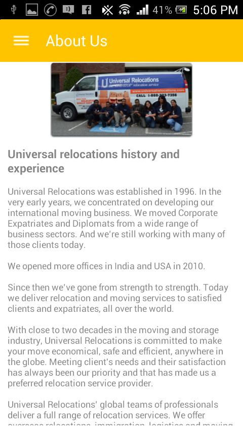 Universal Relocations- screenshot