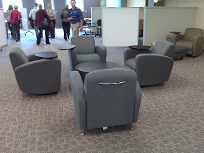 Photo: Note portable but comfy furniture.