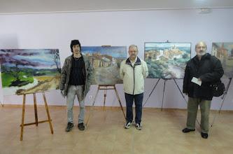 Photo: De izquierda a derecha: Victor Pastor (mejor artista local), el del centro Roque García (segundo premio) y Manuel Guillén (primer premio)