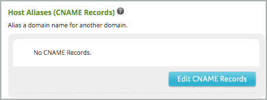 Under Host Aliases (CNAME Records), the Edit CNAME Records button is selected.