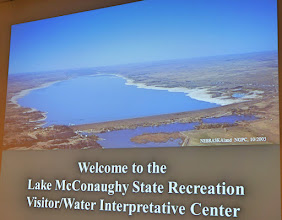 Photo: Lake McConaughy was constructed to store water for irrigation for The Tri-County, later renamed Central Nebraska Public Power and Irrigation District (CNPPID) hydro-irrigation project. A hydro-electric plant was later added and went online in 1984.