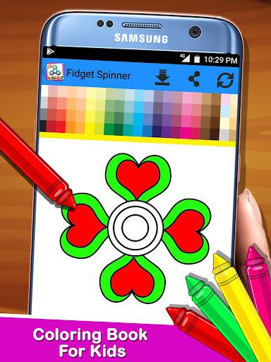 Fidget Spinner Coloring Book For Kids 1.0 screenshots 2
