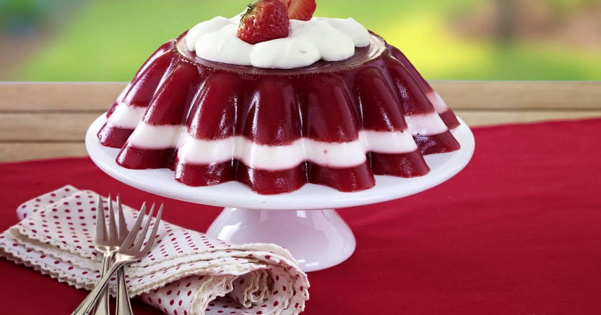 Salad Mold Jello Raspberry