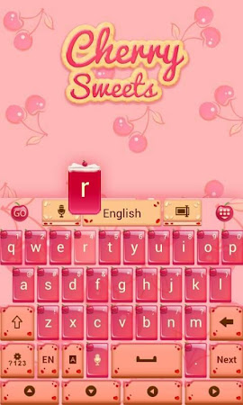 Cherry Sweet GO Keyboard Theme 3.87 screenshot 1282612