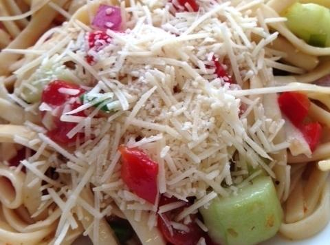 Italian Seasoned Spaghetti Salad W/ Vegggies Recipe