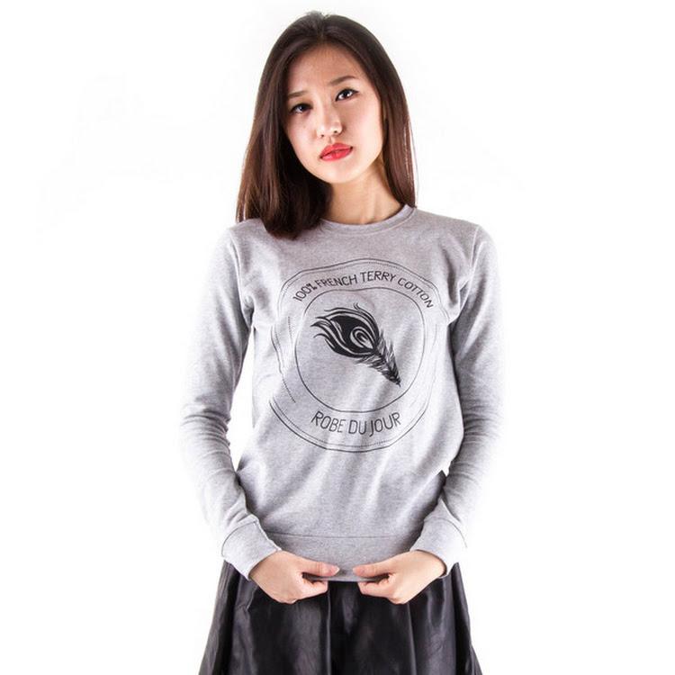 Terry Logo Sweater Grey by Meridian Street Sdn Bhd