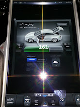 Photo: The big screen while charging back at home (currently charging at 40A off a NEMA 14-50 plug, the HPWC will get here in a couple of weeks).