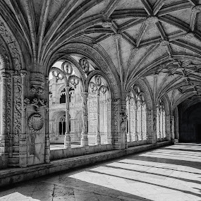 Hieronymus monastery by Pascal Bénard - Buildings & Architecture Architectural Detail ( black and white, pwcbuilding-dq )