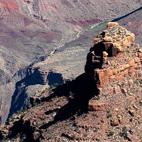 Battleship Rock by Jeff Yarbrough - Landscapes Mountains & Hills ( arizona, rock, grand canyon )